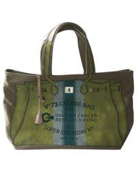 Hermès - Green Pre-owned Cloth Handbag - Lyst