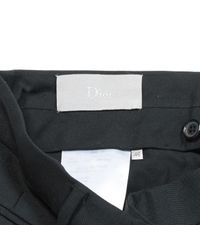 Dior - Black Wool Trousers for Men - Lyst