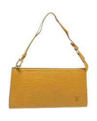 Louis Vuitton - Yellow Pre-owned Pochette Leather Handbag - Lyst