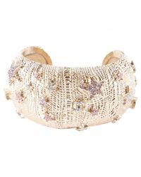 Chanel - Metallic Silver Metal Bracelet - Lyst