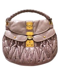 Miu Miu - Pink Matelassé Leather Handbag - Lyst