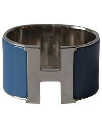 Hermès - Blue Pre-owned Clic H Bracelet - Lyst