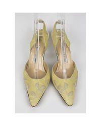 Manolo Blahnik - Natural Vintage Beige Lizard Heels - Lyst
