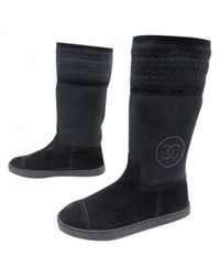 Chanel - Black Snow Boots - Lyst