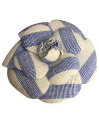 Chanel - Blue Pre-owned Camélia Pin & Brooche - Lyst