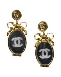 Chanel - Metallic Pre-owned Earrings - Lyst