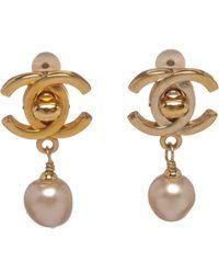 Chanel - Metallic Pre-owned Earrings - Lyst