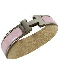 Hermès - Pink Pre-owned Clic H Bracelet - Lyst