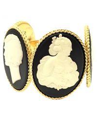 Chanel - Metallic Metal Bracelet - Lyst