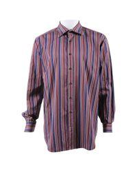 Etro - Purple Cotton Shirts for Men - Lyst