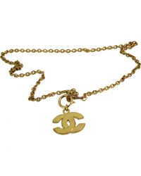 Chanel - Metallic Long Necklace - Lyst