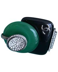 Chanel - Green Pre-owned Ring - Lyst