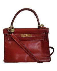 Hermès - Red Kelly 28 Leather Handbag - Lyst