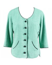 Chanel - Green Pre-owned Tweed Short Vest - Lyst