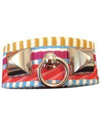 Hermès - Multicolor Rivale Leather Bracelet - Lyst