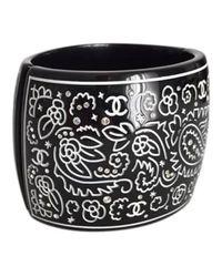 Chanel - Black Other Plastic Bracelets - Lyst