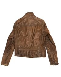 Roberto Cavalli - Brown Leather Vest for Men - Lyst