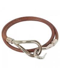 Hermès - Brown Pre-owned Jumbo Leather Bracelet - Lyst