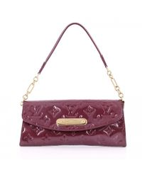 fe5ccdfc51c2 Louis Vuitton Burgundy Patent Leather Handbag in Purple - Lyst