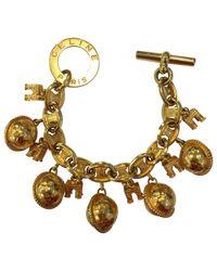 Céline - Metallic Pre-owned Vintage Gold Metal Bracelets - Lyst