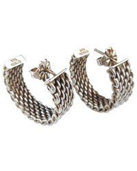Tiffany & Co - Metallic Tiffany Somerset Silver Earrings - Lyst
