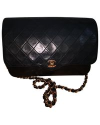Chanel - Black Pre-owned Timeless Leather Handbag - Lyst