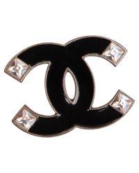 Lyst - Broche Chanel en coloris Noir fb39edc7ed8