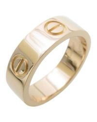Cartier - Love Pink Gold Ring - Lyst