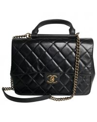 Chanel - Pre-owned Business Affinity Black Leather Handbags - Lyst