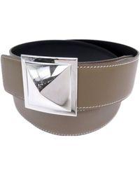 Hermès - Brown Leather Belt - Lyst
