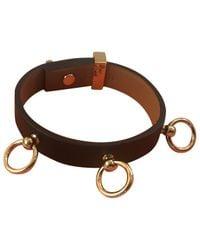 Hermès - Black Pre-owned Mini Dog Leather Bracelet - Lyst