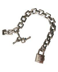 Louis Vuitton - Metallic Pre-owned White Gold Bracelet - Lyst