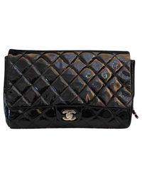 Chanel - Black Pre-owned Timeless Patent Leather Handbag - Lyst