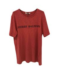 Balmain - Pre-owned Red Cotton T-shirt for Men - Lyst