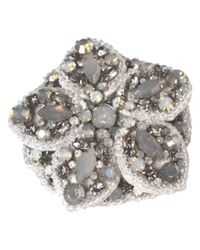 Lanvin - White Metal Pins & Brooches - Lyst
