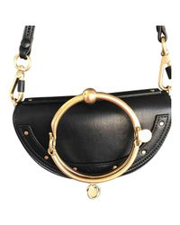 Chloé - Black Pre-owned Leather Clutch Bag - Lyst