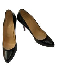 Christian Louboutin - Black Leather Heels - Lyst
