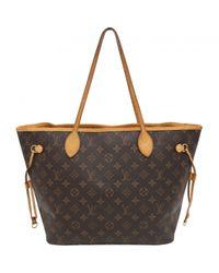 Louis Vuitton - Brown Neverfull Cloth Handbag - Lyst