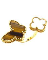 Van Cleef & Arpels - Metallic Bagues Entre Les Doigts Gold Yellow Gold Ring - Lyst