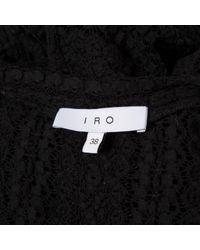 IRO - Black Cotton Dress - Lyst