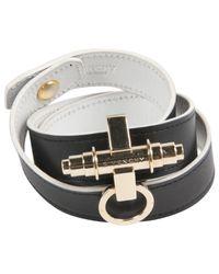 Givenchy - Black Leather Bracelet - Lyst