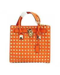 MICHAEL Michael Kors - Orange Hamilton Leather Travel Bag - Lyst