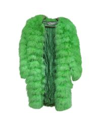 Dior | Green Pre-owned Feather Coat | Lyst