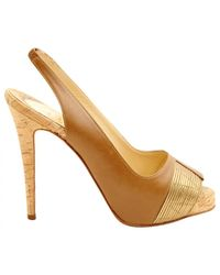 Christian Louboutin - Metallic Pre-owned Leather Heels - Lyst