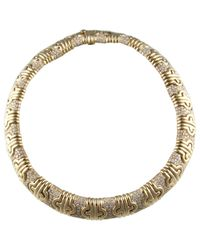 BVLGARI - Pre-owned Vintage Parentesi Yellow Yellow Gold Necklaces - Lyst