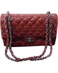 Chanel - Red Pre-owned Timeless Patent Leather Handbag - Lyst