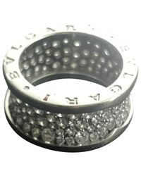 BVLGARI - Metallic B.zero1 White Gold Ring - Lyst