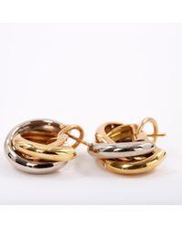 Cartier - Metallic Vintage Trinity Gold Yellow Gold Earrings - Lyst