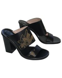 Chloé - Pre-owned Susanna Black Leather Mules & Clogs - Lyst