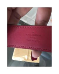 Louis Vuitton - Pink Leather Bracelet - Lyst